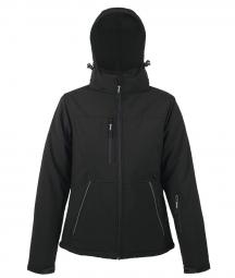 Sol s veste femme softshell hiver doublee 46804 noir