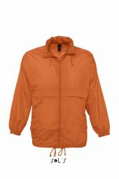 Sol s veste coupe vent impermeable 32000 orange mixte homme ou femme