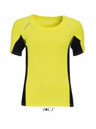 Sol's t-shirt running manches courtes - Femme - 01415 - jaune fluo