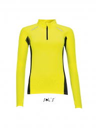 Sol's t-shirt running manches longues - Femme - 01417 - jaune fluo