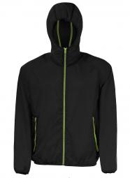 Sol s veste coupe vent impermeable 01169 noir unisexe