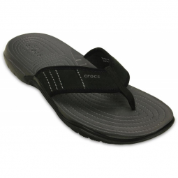 Image of Crocs men swiftwater flip graphite black 42 1 2