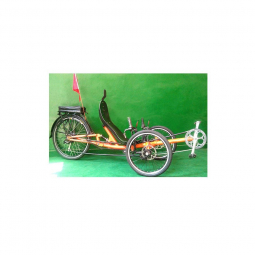 Tricycle couche avec suspension arriere et porte bagage