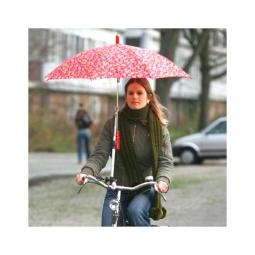 Fixation parapluie sur guidon de velo