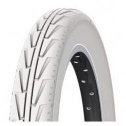 Pneu ville Michelin CITY'J 12x1/2x175x2 1/4 couleur Blanc tringle rigide
