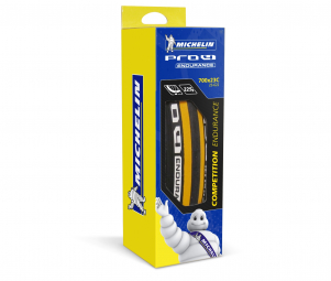 Pneu vtt michelin pro 4 endurance 700x23 c couleur noir jaune tringle souple usage route 23 mm