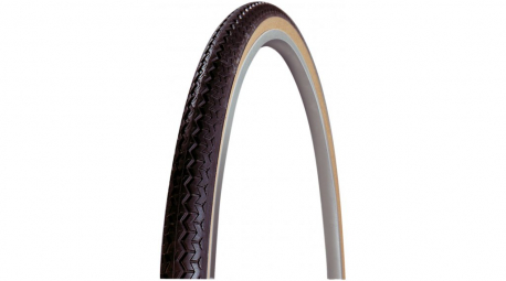 Pneu vtt michelin world tour 650x35 couleur noir beige tringle rigide usage urbain 35 mm