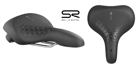 Selle selle royal adulte mixte mod le city dimensions 259mmx211mm couleur noir