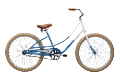 Beach cruiser pure cycles step cruiser single speed blanc bleu unique 165 190 cm