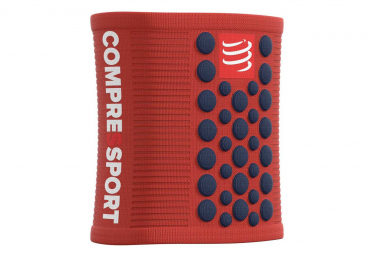 COMPRESSPORT x2 Sweatbands 3D.Dots Band red