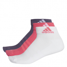 Socquettes adidas 3 stripes performance 3 paires 31 34