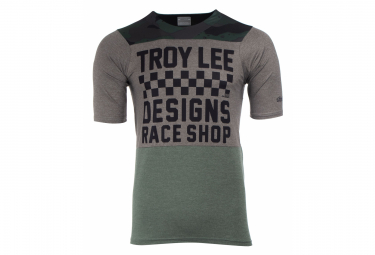 Maillot Manches Courtes TROY LEE DESIGNS Skyline Checkers Taupe