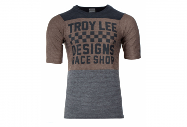 TROY LEE DESIGNS Short Sleeve Jersey Skyline Air Checkers Black Mocha