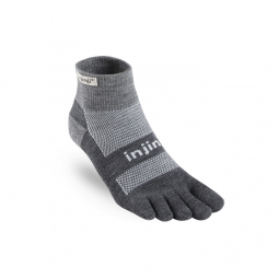 Chaussettes INJINJI - OUTDOOR MIDWEIGHT MINI CREW NUWOOL ANTHRACITE