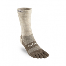 Chaussettes INJINJI - OUTDOOR MIDWEIGHT CREW NUWOOL GRIS SABLE