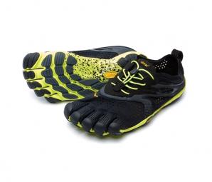 Image of Vibram fivefingers v run 16m3101 noir jaune homme 44