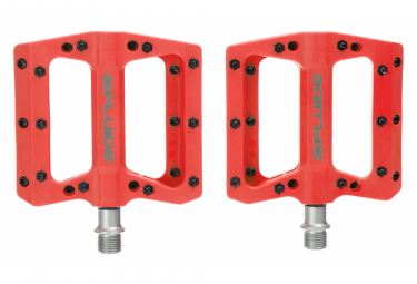Fluide Flat Pedals Pression Red
