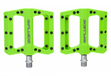Fluide Flat Pedals Pression Green