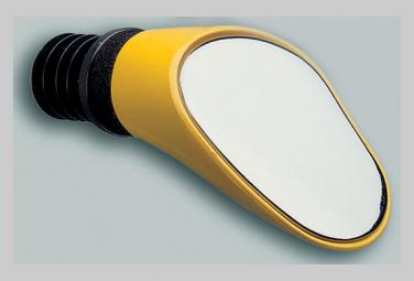 Image of Retroviseur sprintech course gauche jaune