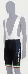 Image of Cuissard court avec bretelles fondriest noir blanc s
