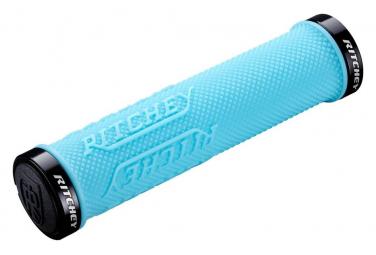Grips Ritchey WCS TrueGrip X Locking Bleu Ciel 130mm