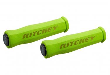 Paire de Grip Ritchey WCS TrueGrip Néoprène 130mm Vert