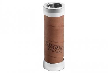 Brooks Slender Leather Grips - Dark Tan - 100+130mm
