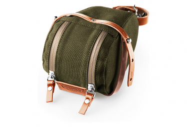 Brooks Isle of Wight Saddle Bag - Small - Green / Honey