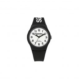Montre superdry urban noir blanc