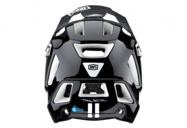 100% Trajecta Helmet Black/White