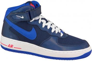 low priced b01a6 bf620 Nike Air Force 1 Mid Gs 314195-412 Garçon sneakers Bleu foncé