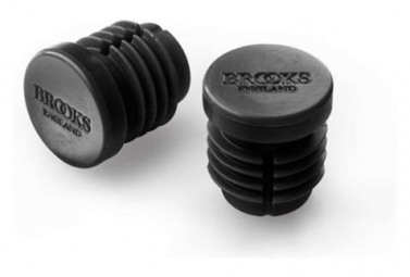 Brooks Rubber Bar End Plugs Black