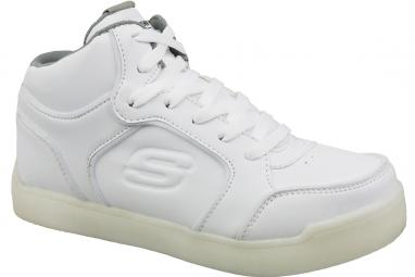Skechers Energy Lights  90622L-WHT Garçon sneakers Blanc