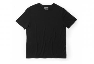 Chrom-Merino-T-Shirt mit kurzen Ärmeln Schwarz