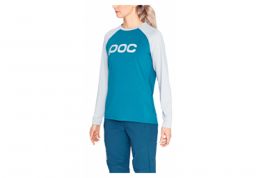 Poc Essential MTB Women Long Sleeves Jersey Antimony Blue Oxolane Grey