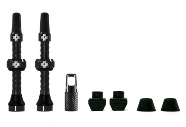 Muc-Off Aluminium Presta 44 mm Tubeless Valve (Pair) Black