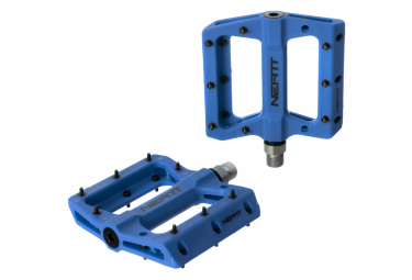 Paire de Pédales Plates NEATT COMPO 8 Picots Bleu