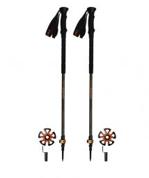 Image of Batons ride fast ii orange paire batons ski randonnee batons peaux access ski rando skis de randonnee glisse hiver