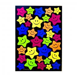 34 autocollants étoiles Smiley pour vélo enfant .