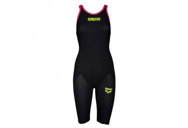 Image of Arena carbon flex vx open back dark grey fluo red combinaison natation femme dos ouvert 32