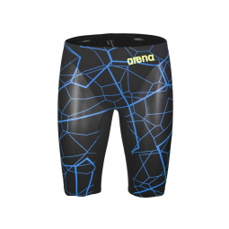 Image of Arena powerskin carbon air black bright blue edition limitee jammer natation 75 cm