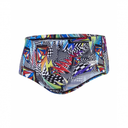 SPEEDO Boom Funk 14cm Allover Brief - Spearmin / Bondi Blue / Black