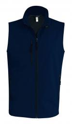 Image of Kariban bodywarmer softshell gilet sans manches k403 bleu marine homme s