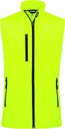 Image of Kariban bodywarmer softshell gilet sans manches k403 jaune fluo homme xxl
