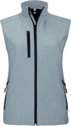 Image of Kariban bodywarmer softshell gilet sans manches k404 gris merle femme 3xl