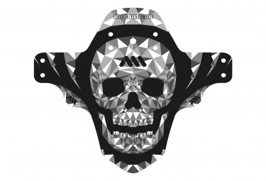 All Mountain Style AMS Front Mud Guard Skull Grey Black