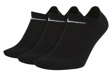 Chaussettes (x3) Nike Everyday Lightweight No-Show Noir Unisex