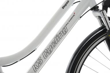 VTC Femme KS Cycling Vegas 28'' Shimano Tourney 7V Blanc