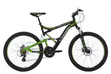 VTT Tout-Suspendu KS Cycling Castello HTX 26'' Shimano Altus 7V Noir Vert