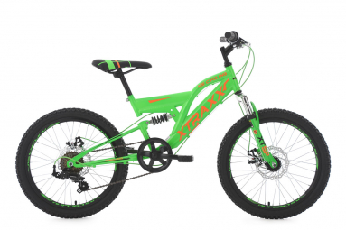 VTT Tout-Suspendu Enfant KS Cycling Xtraxx 20'' Shimano Tourney 7V Vert Orange